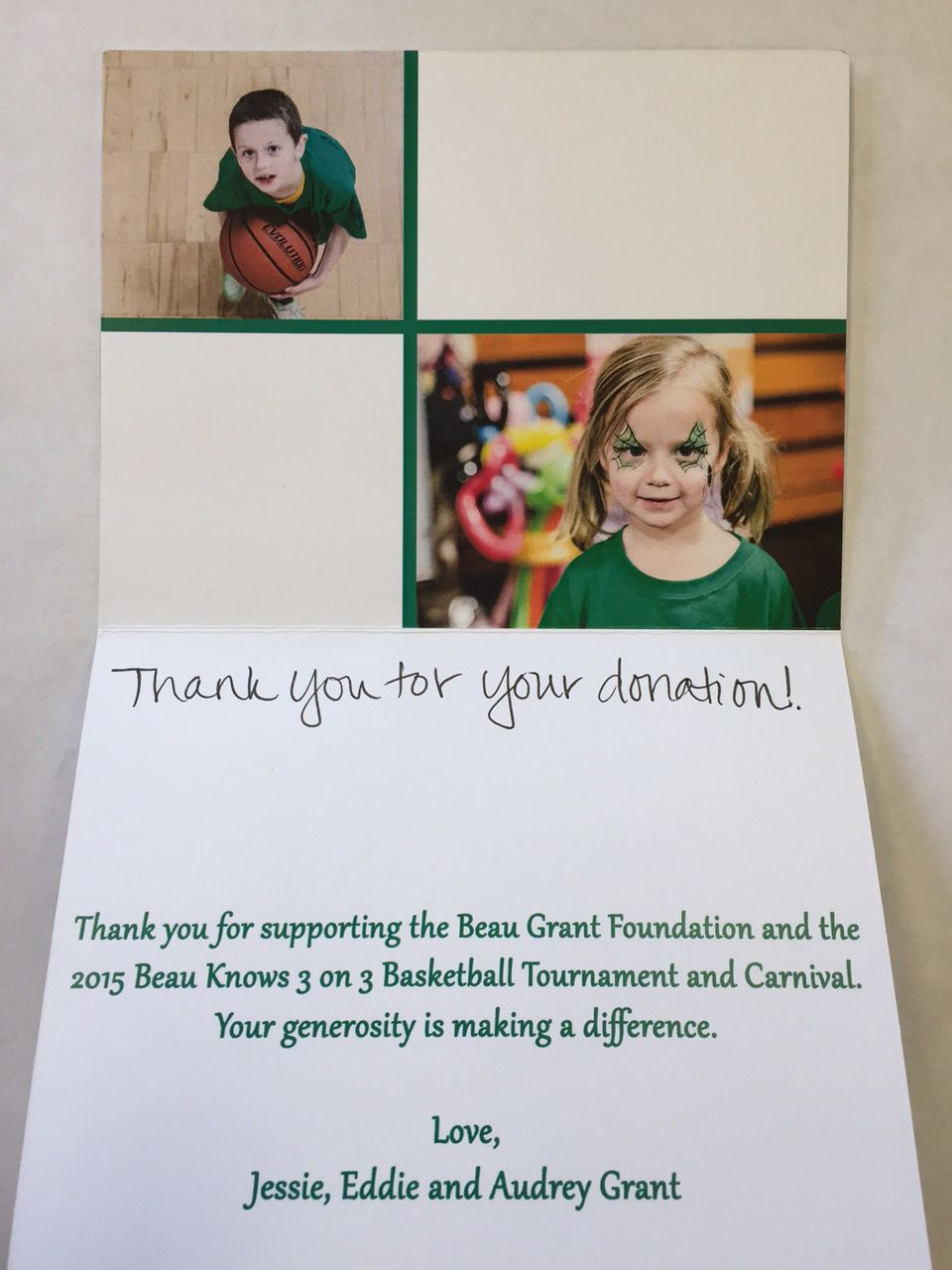 The Beau Grant Foundation Note